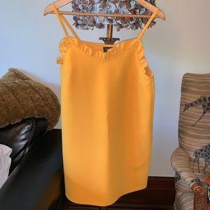 Topshop short yellow dress